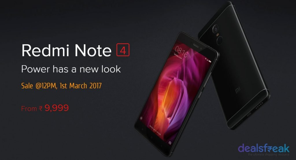 redmi note 4 sale march 1
