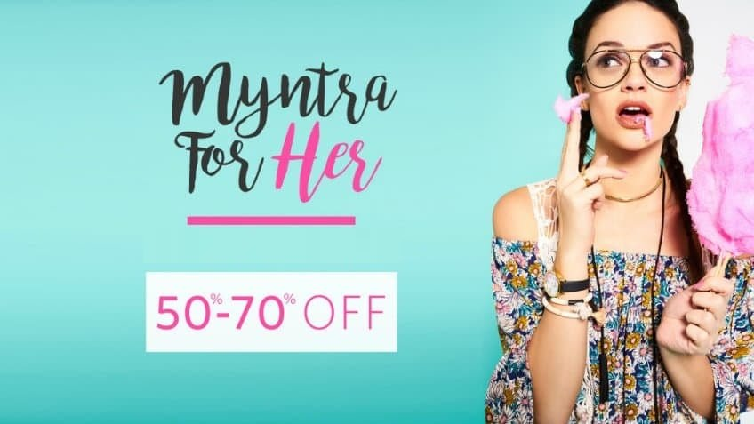 50-70 off Myntra-For-Her