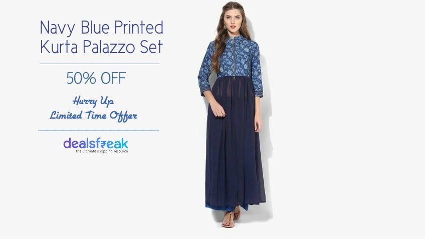 Biba-Navy-Blue-Printed-Kurta-Palazzo-Set