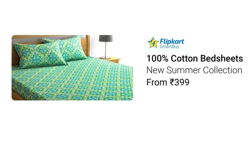 Flipkart SmartBuy bedsheets