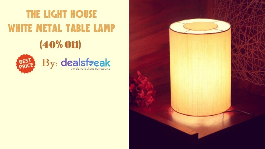 The Light House White Metal Table Lamp 40 Discount