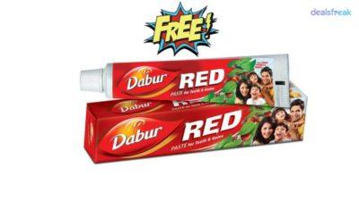 free dabur red toothpaste