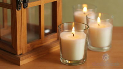 Hosley Glass Candles