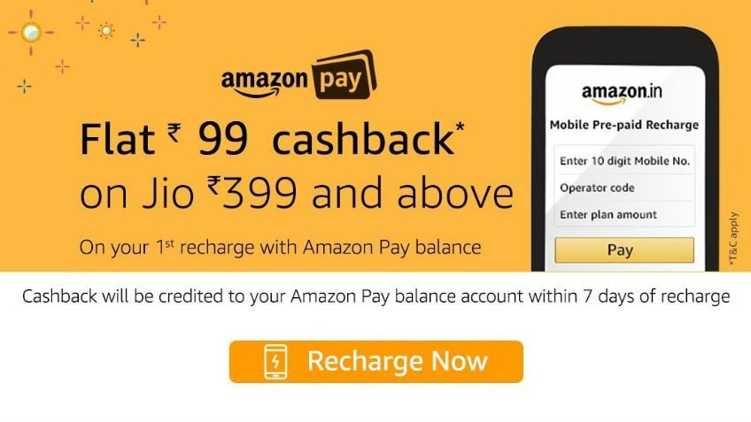 Jio Recharge at Amazon