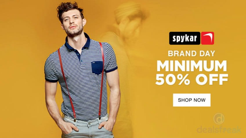 4daacf7e Spykar Fashion Sale: Buy Jeans, Shirts, Blazers T-shirts (Min 50% OFF)
