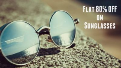flat 80% OFF on sunglasses