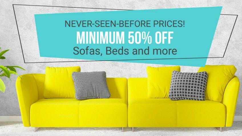 flipkart 50% on furniture