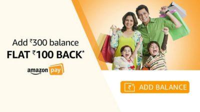 Amazon Pay balance Rs.100 cashback