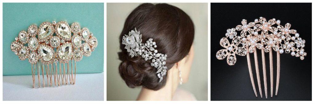 Crystal Hair Combs