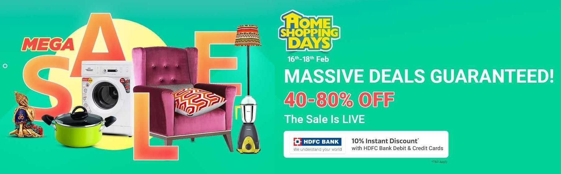 flipkart home shopping days feb 2018