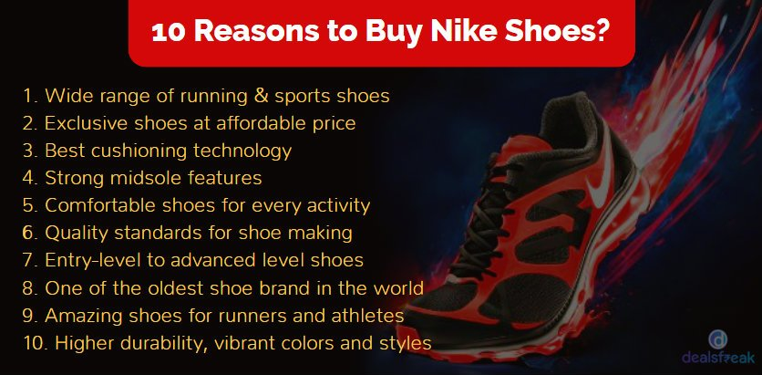 reasons to buy nike shoes