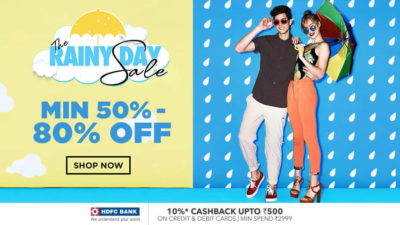 Jabong Monsoon Sale