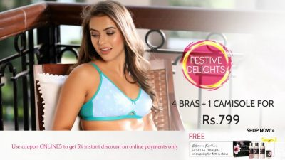 4 Bras Rs.799