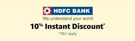 10% HDFC discount