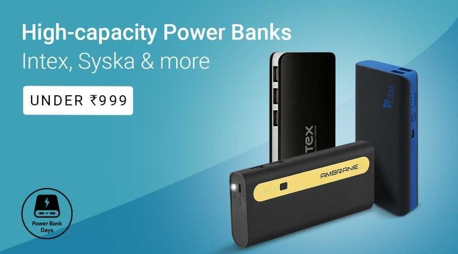 8aae8d91153 Best Power Banks Online Under Rs. 999 - Flipkart Sale