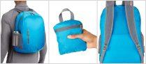Amazon Basics Ultra thin Foldable Day Pack – Light Blue, 25L