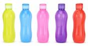 Cello Aqua Flip Top 1000 ml Bottle (Pack of 5, Multicolor)