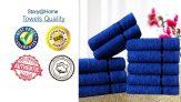 Story@Home Sensational Solid 10 Piece Cotton Face Towel Set