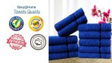 Story@Home Sensational Solid 10 Piece Cotton Face Towel Set