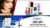 L'Oreal Paris Products & Makeup Accessories (Flat 25% OFF)