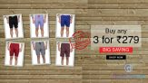 Buy 3 Men Sports Shorts at Rs. 279 Only (Hot Offer)