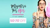 Myntra Women's Sale: Clothing & Fashion Accessories (50-70% OFF)
