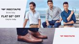Red Tape Brand Day Sale Flat 60% OFF Only For Today