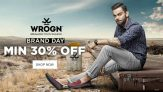 Wrogn New Collection Clothing & Footwear By Virat Kohli (Min 30% OFF)