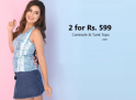 Clovia 2 Camisoles/Tank Tops at Rs. 599 (Best Offer)