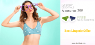 Clovia 4 Bras @Rs.799 + 2 Panties FREE, Best Lingerie Offer